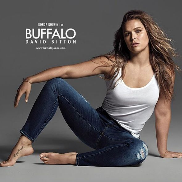 Ronda Rousey stars in Buffalo David Bitton fall 2016 campaign