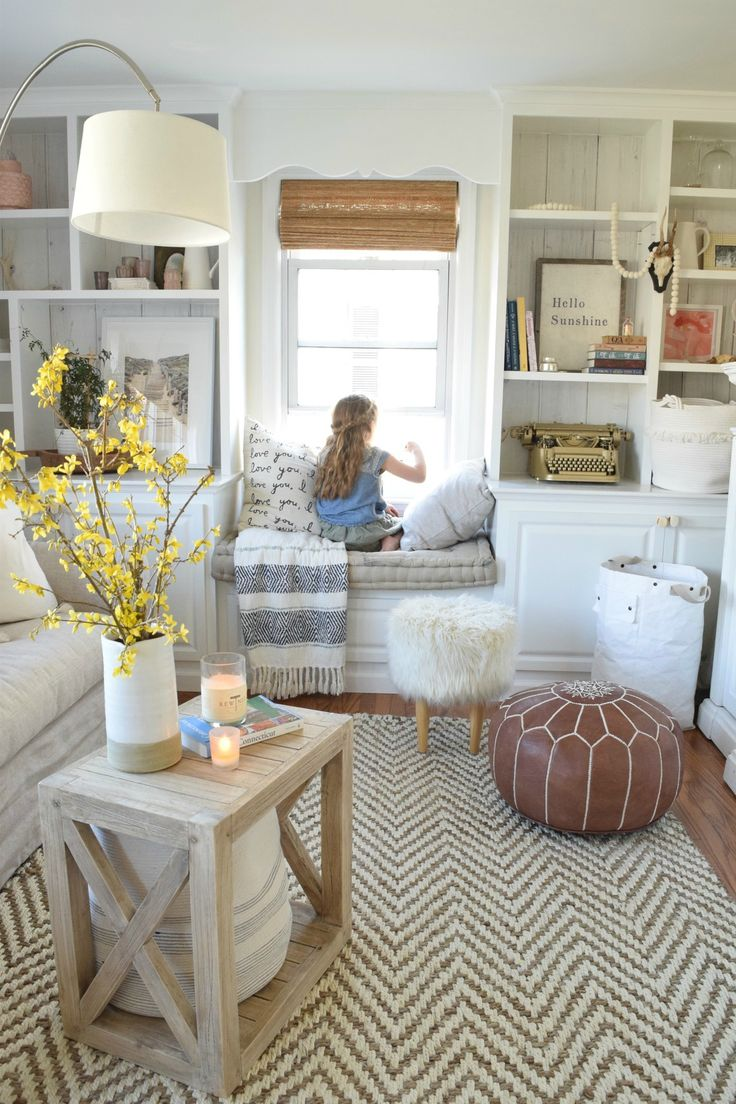 American style kitchen and living room - Living Room Eclectic Beach Cape