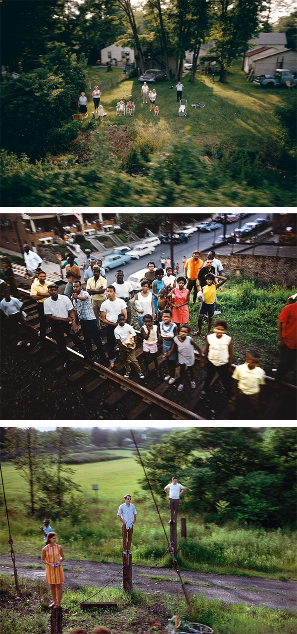 Paul Fusco; video   Talking about the photographs he took out the window, aboard the train carrying JFK's coffin titled 'The Fallen'. Video presented by New York Times Magazine.    via blog 'all the mountains'  http://allthemountains.blogspot.com.au/2012/06/paul-fusco.html#
