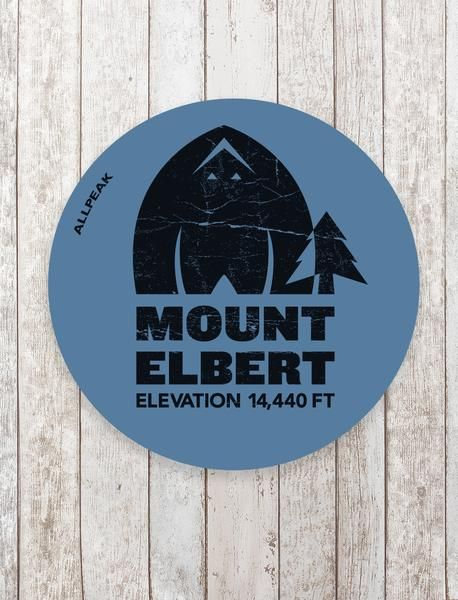 Mount elbert sticker