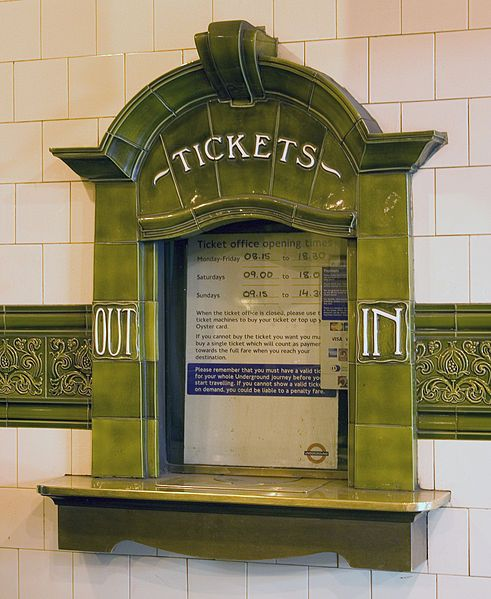 Lovely Art Nouveau decoration of station ticket counter, Edgeware Road Bakerloo Line, London | JV