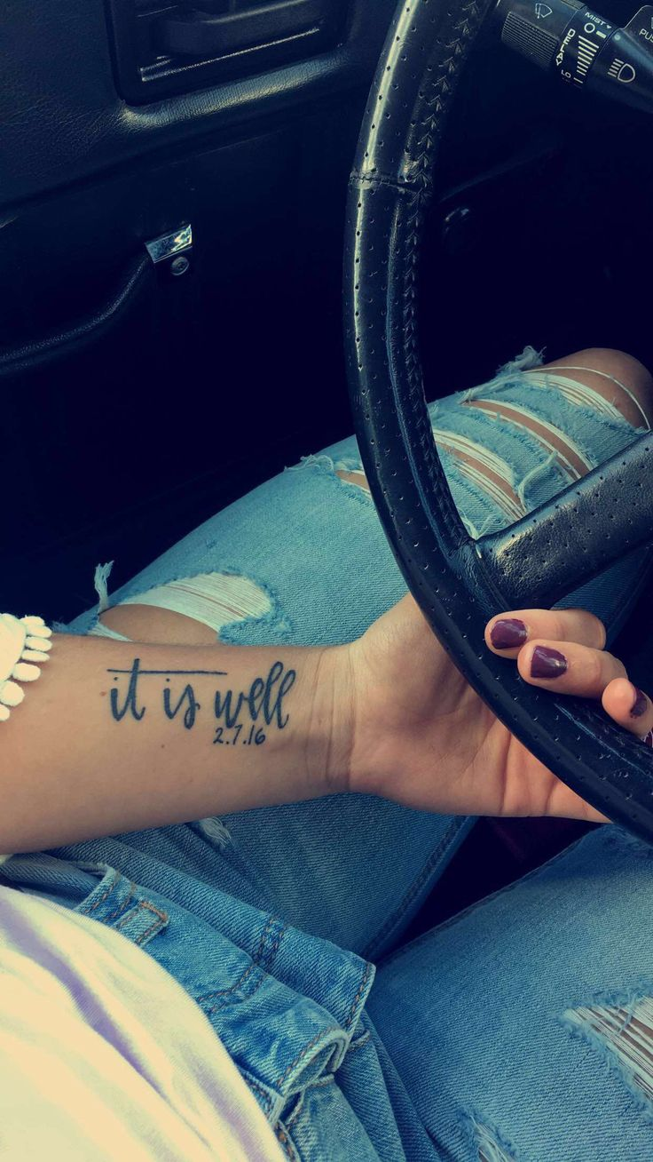 It is well tattoo