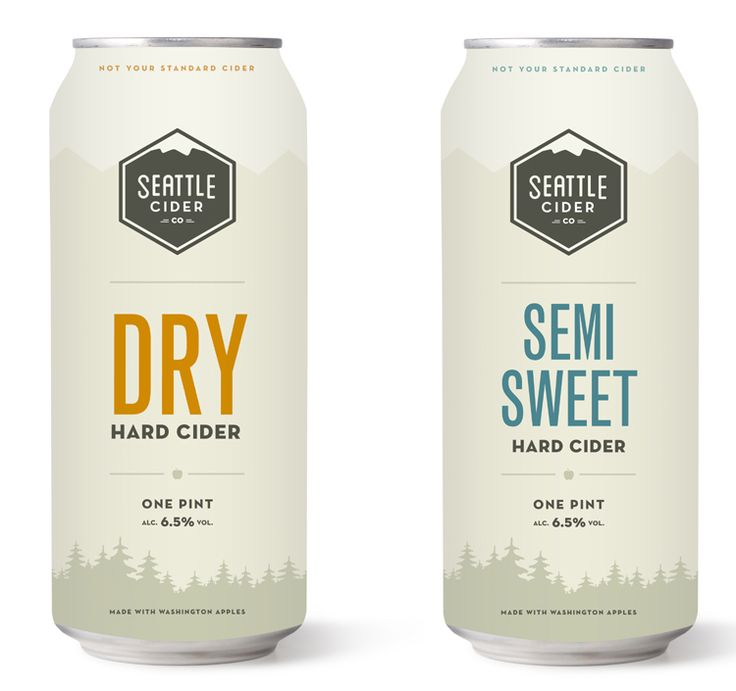 Seattle Cider Company Cider in Can #cider #packaging #seattleciderco