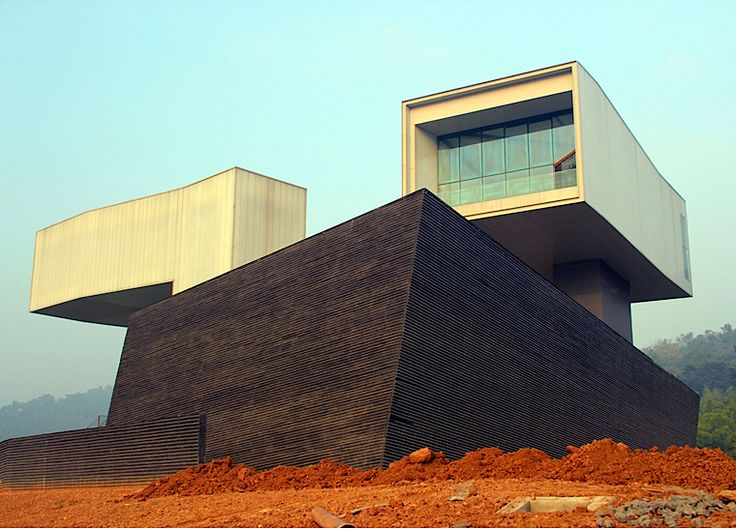 architectureofdoom: The almost completed Nanjing Museum of Art & Architecture in China by Steven Holl architects