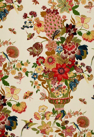 Lansdale Bouquet in Spring, 173070. http://www.fschumacher.com/search/ProductDetail.aspx?sku=173070 #Schumacher