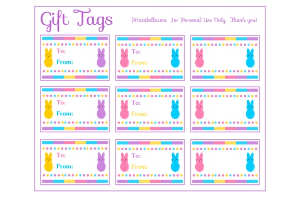 Printable gift tags for spring crafthubs free printable peeps party gift tags easterspring negle Images