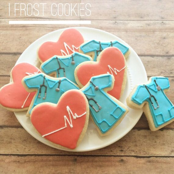Doctor and nurse cookies by ifrostcookies on Etsy