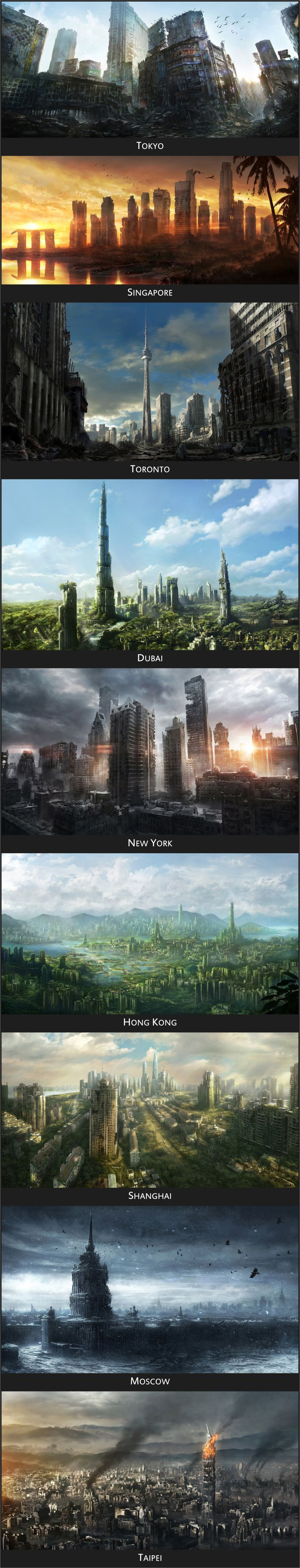 Post Apocalypse / Dystopia - What would the world's cities look like after the apocalypse?
