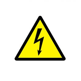 Luxury Electrical warning sign CAD block