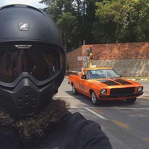 On our way home from confession #bonafidemass #bonafideselfie #rollindeep #bonafidebeards #beardflow #theharleydavidsonman #theharleydavidsonwoman #beardgame #chevrolet #bonafidecamino #elcamino #southafrica