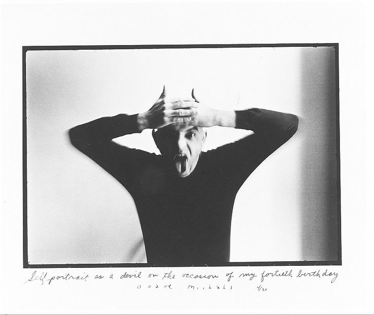 """Duane Michals, """"Self-portrait as a Devil on the Occasion of My Fortieth Birthday"""""""