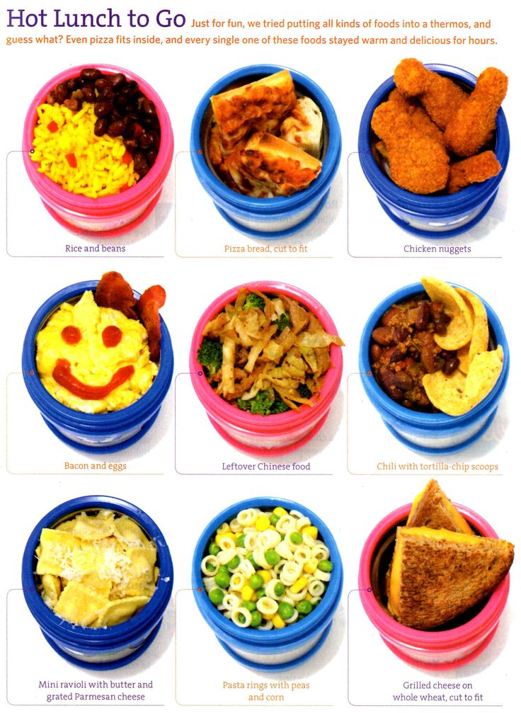 Hot lunch ideas for kids