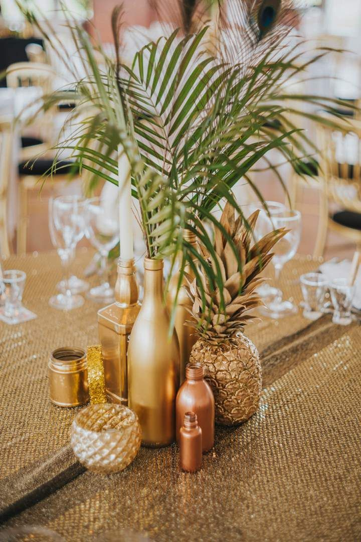 Lou and Pete's Gold Glitter and Metallic Wedding by Benjamin Stuart                                                                                                                                                                                 More