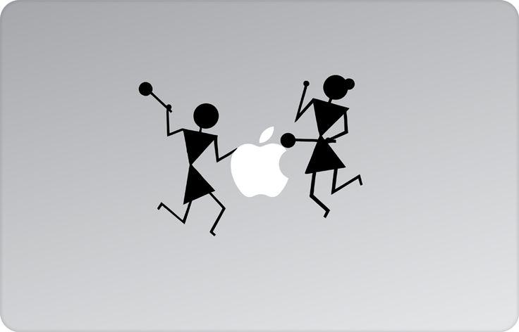 Tribal Drummers Apple Decal by #skinsutra  #apple #tribal #indian #folkart #indianfolkartists #tribalart #indianart #indian #vinyldecal #vinaldesign #vinyl #appledesign #macbook #macbookdecal #appledecal #macbookskin #appleskin #laptopskin