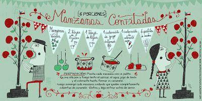 Cositas Ricas Ilustradas por Pati Aguilera: Manzanas Confitadas