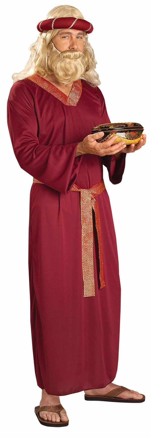 Adult Burgundy Wise Man Costume