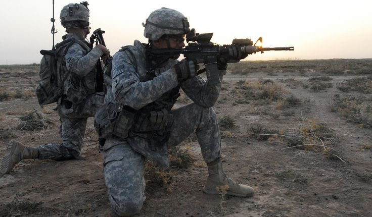 """https://flic.kr/p/8Gzd9V   Rashaad Valley cordon and search   U.S. Army 1st Lt. Dan Chapman, a platoon leader with Headquarters and Headquarters Company, 1st Battalion, 14th Infantry, """"Golden Dragons"""" 2nd Advise and Assist Brigade, 25th Infantry Division out of Schofield Barracks, Hawaii, pulls security during a cordon and search, in the Rashaad Valley near Kirkuk, Iraq, Sept. 25."""