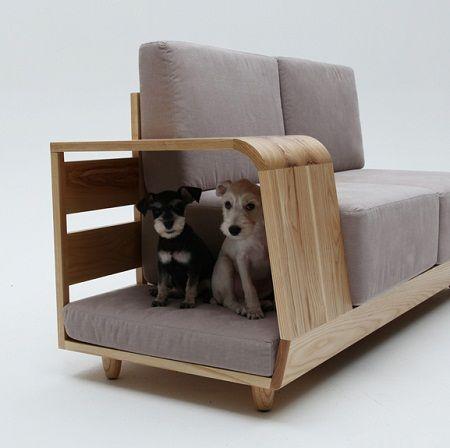 Sofá con Casa para Mascotas, Muebles Funcionales 1