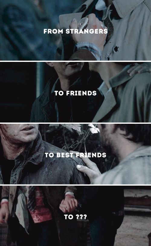 From strangers, to friends, to best friends, to - #spn #destiel