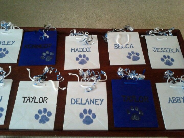 Cheer gift bags! Fill with healthy snacks to have for a long day of ...
