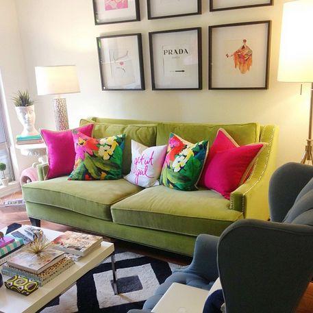 gray velvet slipcover sofa denim sectional with chaise best 25+ green ideas on pinterest   emerald ...