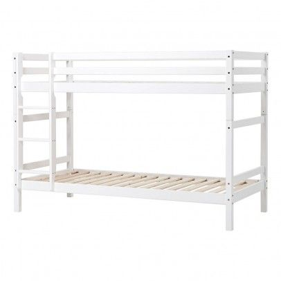 Hoppekids Basic Divisible Bunk Beds with Ladder 90x200 cm Suitable for the 90x200cm mattress * Details : Bedframe included, construction necessary * Fabrics : Solid Pine * Composition : Ecological water-based varnish * Color : White * Length : 208 cm, Width  http://www.MightGet.com/january-2017-13/hoppekids-basic-divisible-bunk-beds-with-ladder-90x200-cm.asp