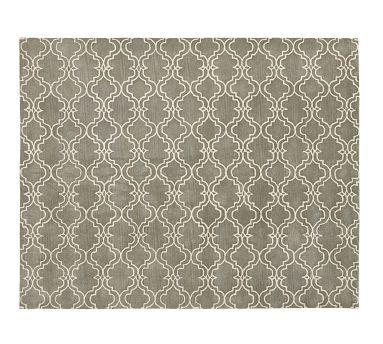 Scroll Tile Rug - Gray #potterybarn