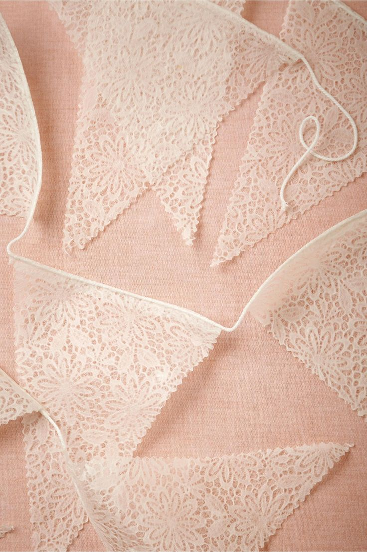 Lace Pennant Garland (set of 3) from BHLDN | feminine and sweet for a garden party