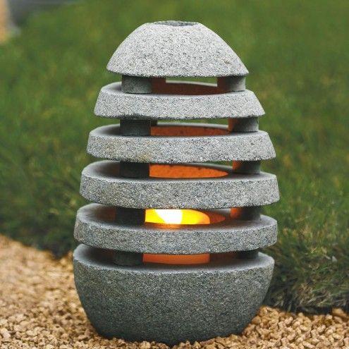 Slotted Zen Stone Lantern   VivaTerra