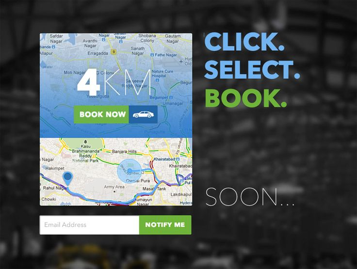 Tap a Cab - Beatifully designed coming soon page