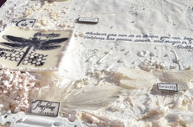 PaperArtsy: 2017 #17 White: White Odyssey with ESN {by Florence Adam}