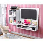 Painel Para Tv Até 50 Polegadas Show - Móveis Albatroz Branco Texturizado