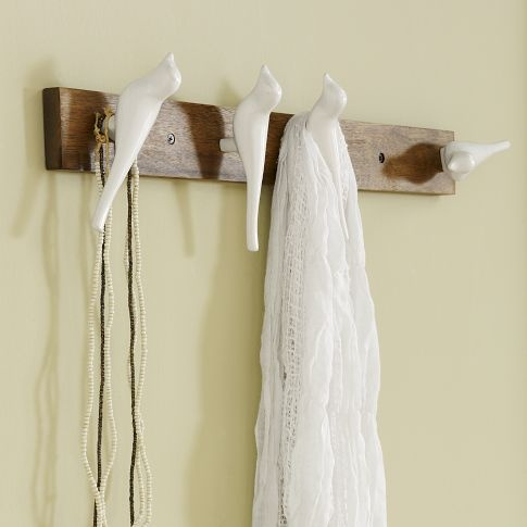 Scandinavian Bird Hook - Long | west elm  Put a bird on it at its best! Too bad this is no longer available!