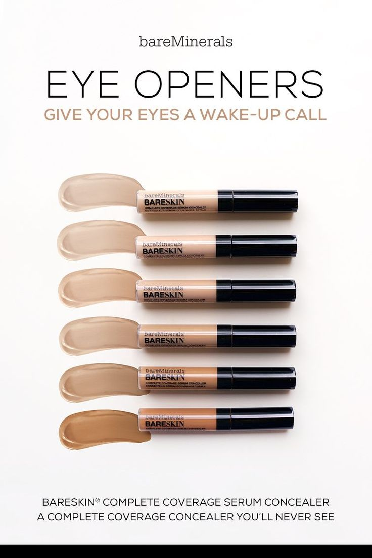 A silky smooth complete coverage concealer and serum in one. Designed to provide remarkable coverage with an ultra-light texture, bareSkin Complete Coverage Serum Concealer by bareMinerals instantly covers the appearance of dark circles, discoloration and other imperfections for a beautifully even-toned complexion. #makeupproducts