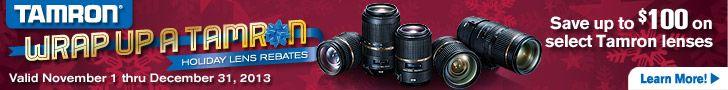 Tamron USA Holiday Rebates - Camera Lens