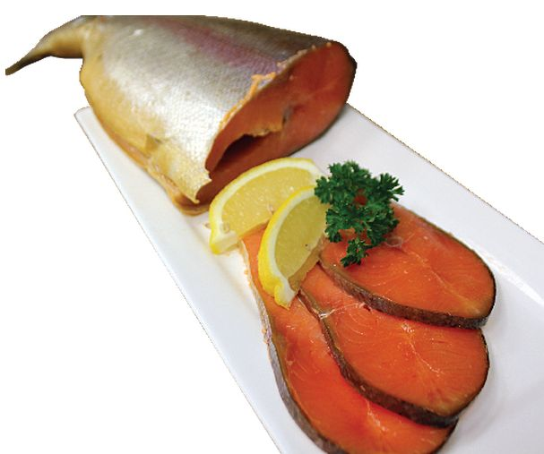 """Gorbusha"" Cold-Smoked Salmon Trout from #YummyMarket #Trout"