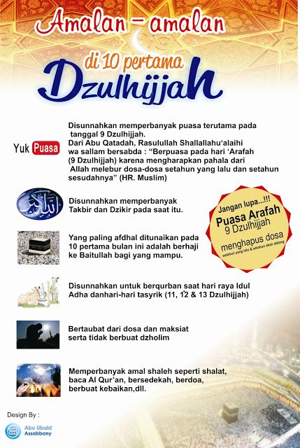 IKRAM (Ikatan Remaja Masjid Amirul Mukminin): Amalan di Bulan Dzulhijjah