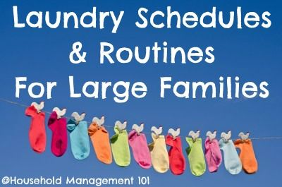 Moms with 6 or more kids at home share their secrets and schedules for getting laundry done. I can learn something from these amazing ladies!