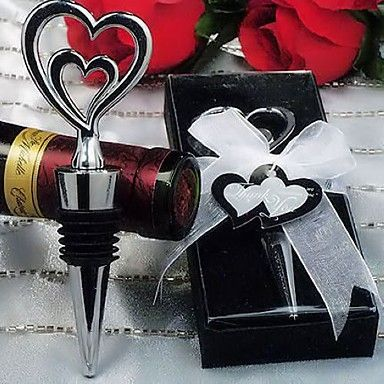 """Two Hearts Are Better Than One"" Wine Stopper – USD $ 3.75"