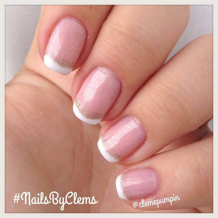 "Hi there! My #notd using this #classic #french #mani with a twist  base color is ""Pink Champagne"" by #nyc #nails #nailart #nailgasm #nailsdid #nailstyle #nailjunkie #nailpolish #nailstagram #nailartchile #nailartdaily #nailsbyclems #naturalnails #nails2inspire #glam #chic #glamorouspumps #uñas #unhas #unhasdasemana"