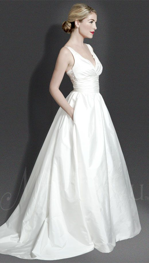 Wedding Dress of the Day: Meadow by Modern Trousseau (I love a wedding dress with pockets!)