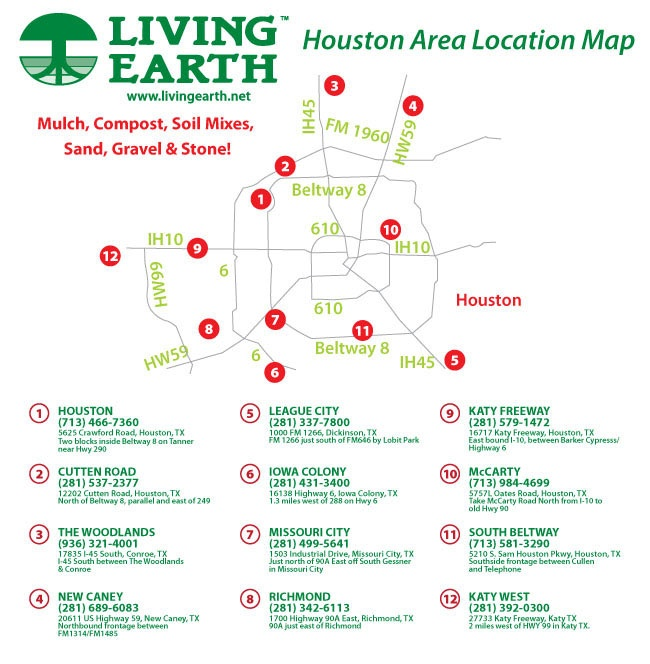 Living Earth Houston Area - Mulch Soil Compost Sand Gravel Delivery