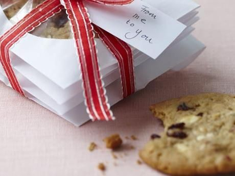 White chocolate chip cookies with cranberries