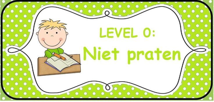 Stemvolume: level 0 niet praten
