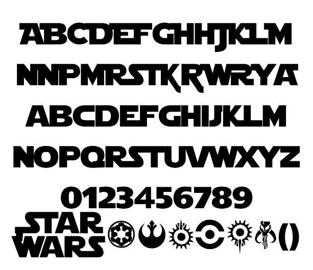 starjedi font - Google Search