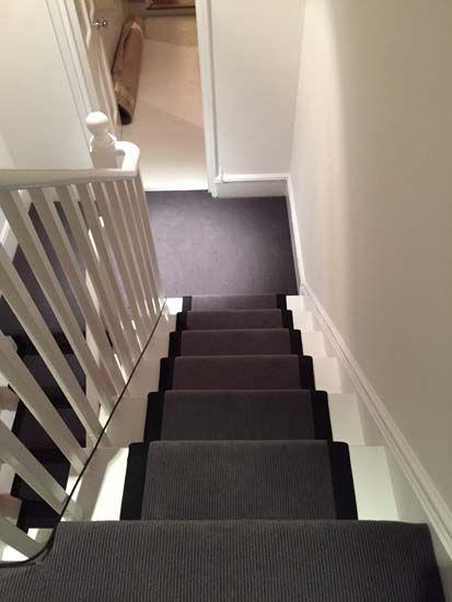 portfolio carpets - grey stairs black border 08