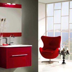 red bathroom furniture for minimalist bathroom designs and ideas