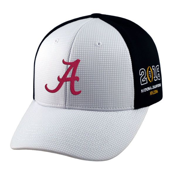 Alabama Crimson Tide Top of the World 2016 College Football Playoff National Championship Game Bound Adjustable Hat - White/Black - $21.99
