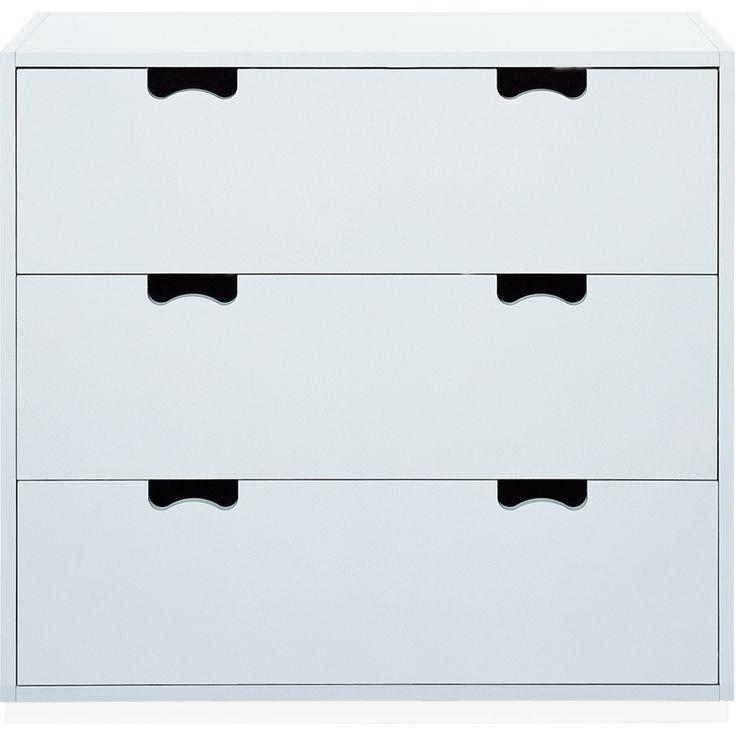 Snö A3 byrå vit, sockel vit från Asplund – Köp online på Rum21.se