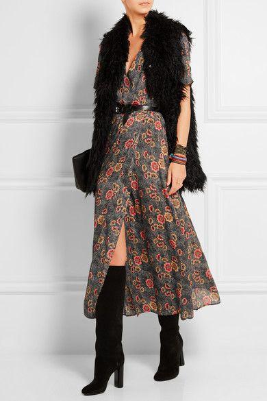Étoile Isabel Marant   Shania floral-print crepe de chine wrap dress   NET-A-PORTER.COM